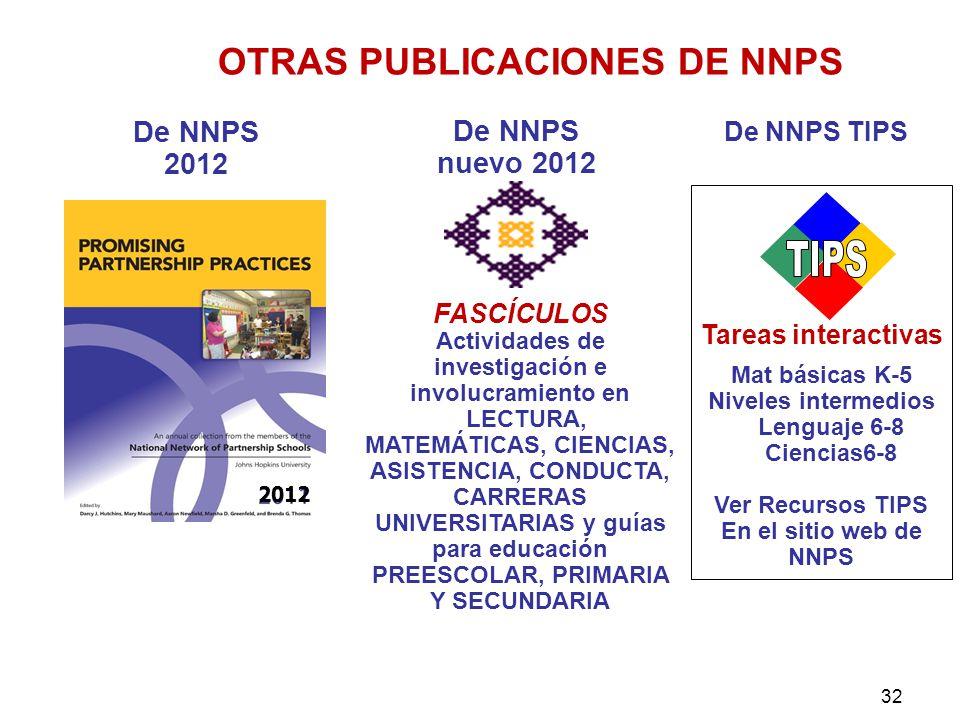 OTRAS PUBLICACIONES DE NNPS