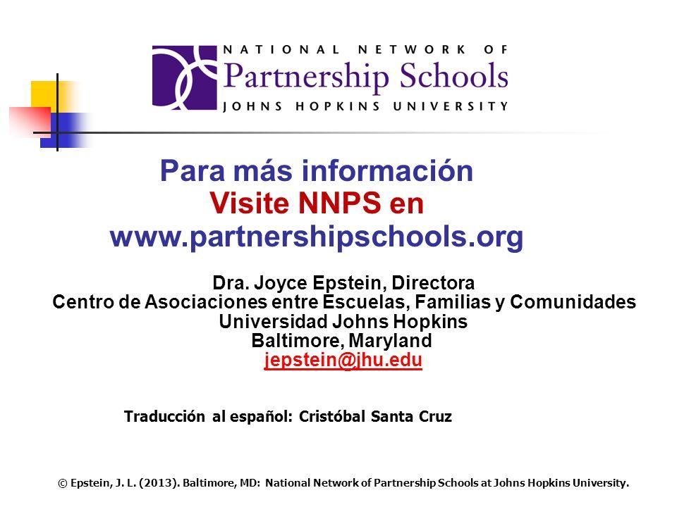 Para más información Visite NNPS en www.partnershipschools.org