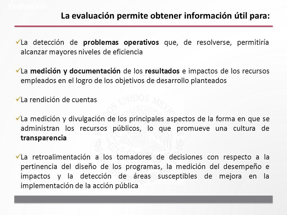 La evaluación permite obtener información útil para: