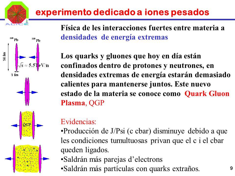 experimento dedicado a iones pesados