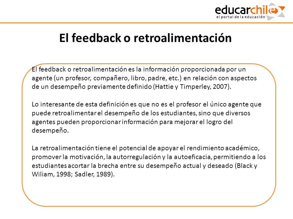 El feedback o retroalimentación