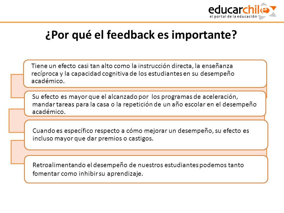 ¿Por qué el feedback es importante