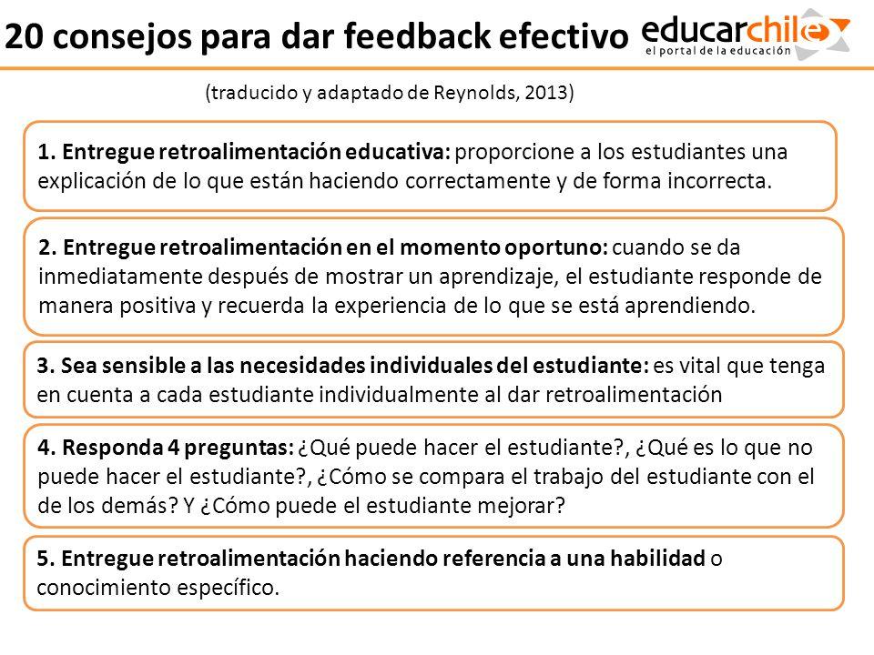 20 consejos para dar feedback efectivo