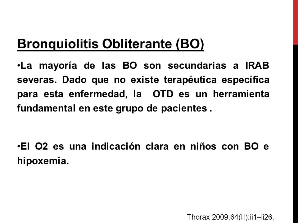 Bronquiolitis Obliterante (BO)