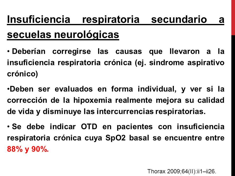 Insuficiencia respiratoria secundario a secuelas neurológicas