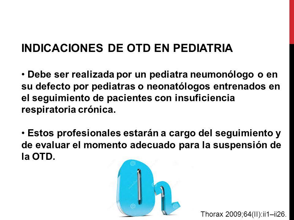 INDICACIONES DE OTD EN PEDIATRIA