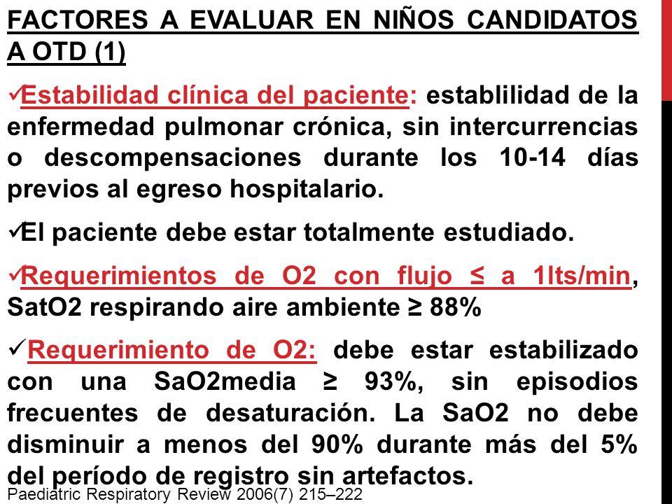 FACTORES A EVALUAR EN NIÑOS CANDIDATOS A OTD (1)