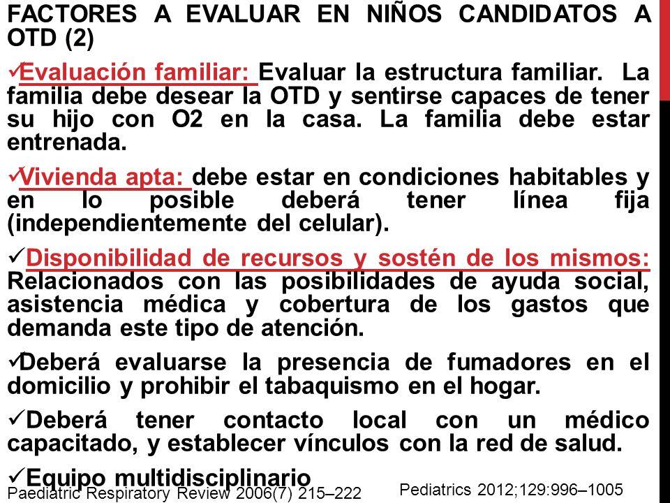 FACTORES A EVALUAR EN NIÑOS CANDIDATOS A OTD (2)
