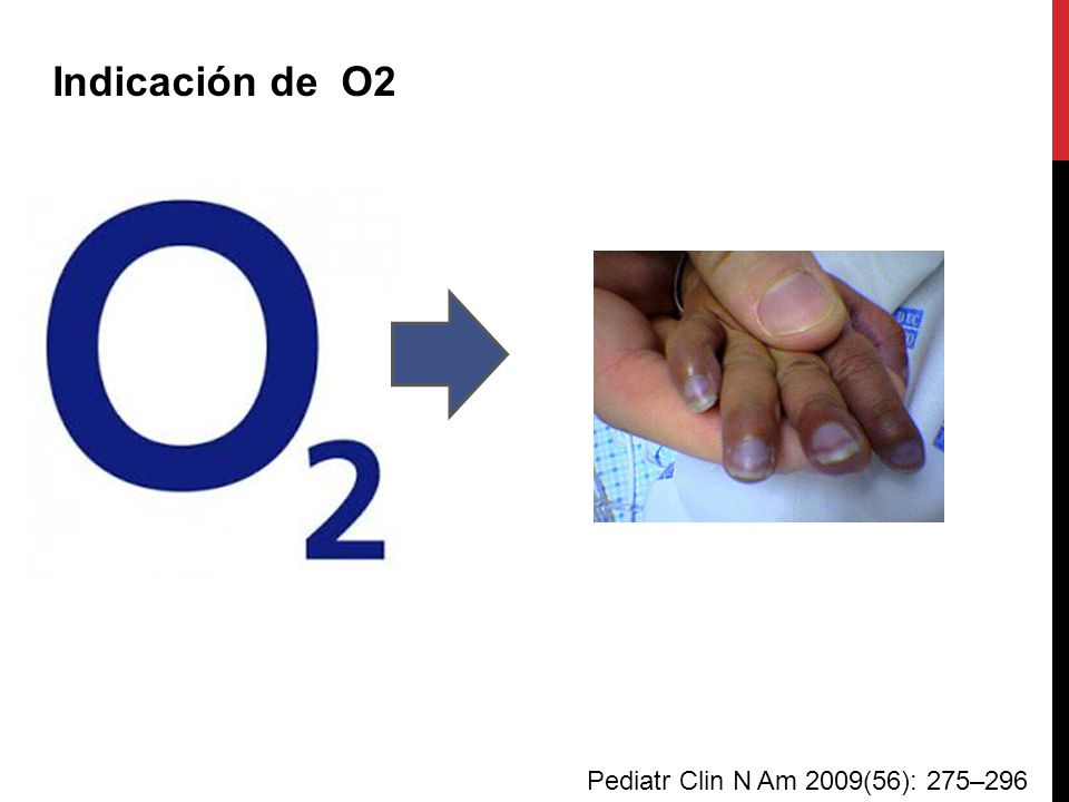 Indicación de O2 Pediatr Clin N Am 2009(56): 275–296