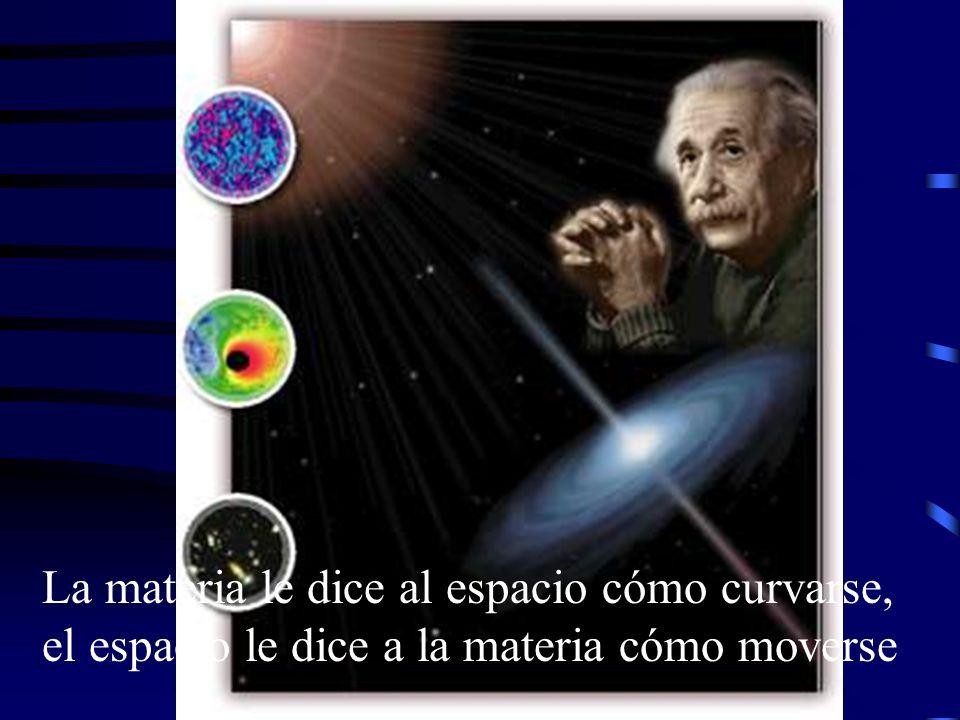 La materia le dice al espacio cómo curvarse, el espacio le dice a la materia cómo moverse
