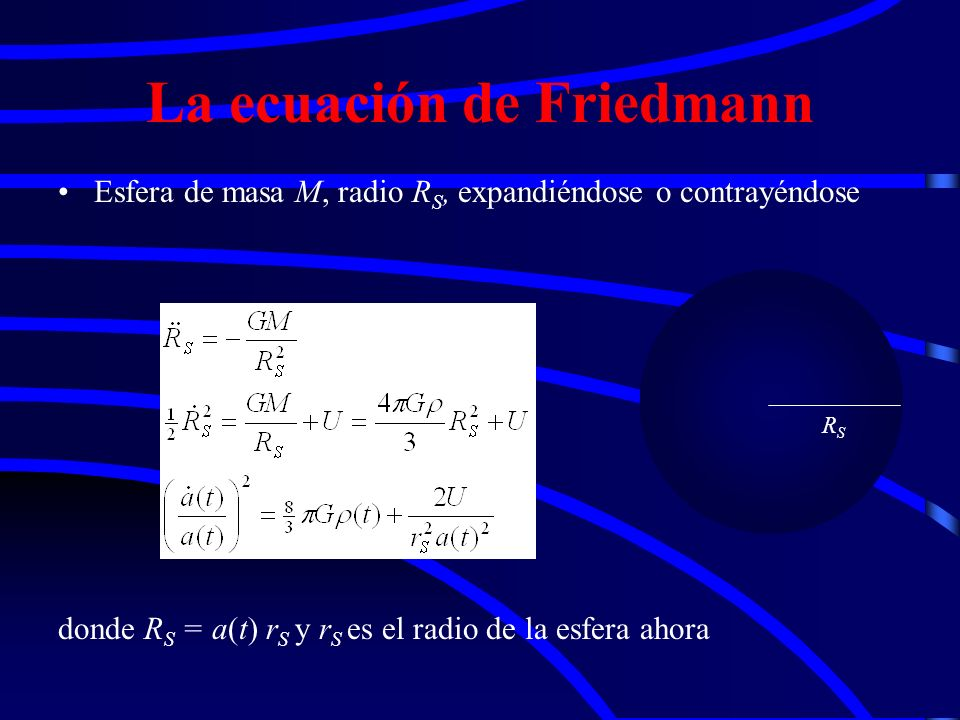 La ecuación de Friedmann