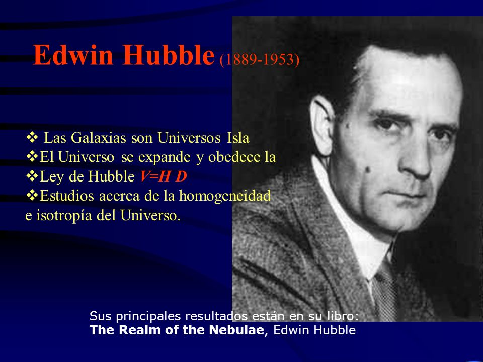 Edwin Hubble (1889-1953) Las Galaxias son Universos Isla