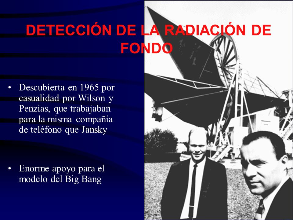 DETECCIÓN DE LA RADIACIÓN DE FONDO