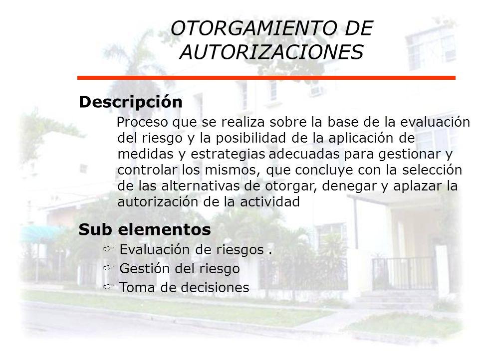 OTORGAMIENTO DE AUTORIZACIONES