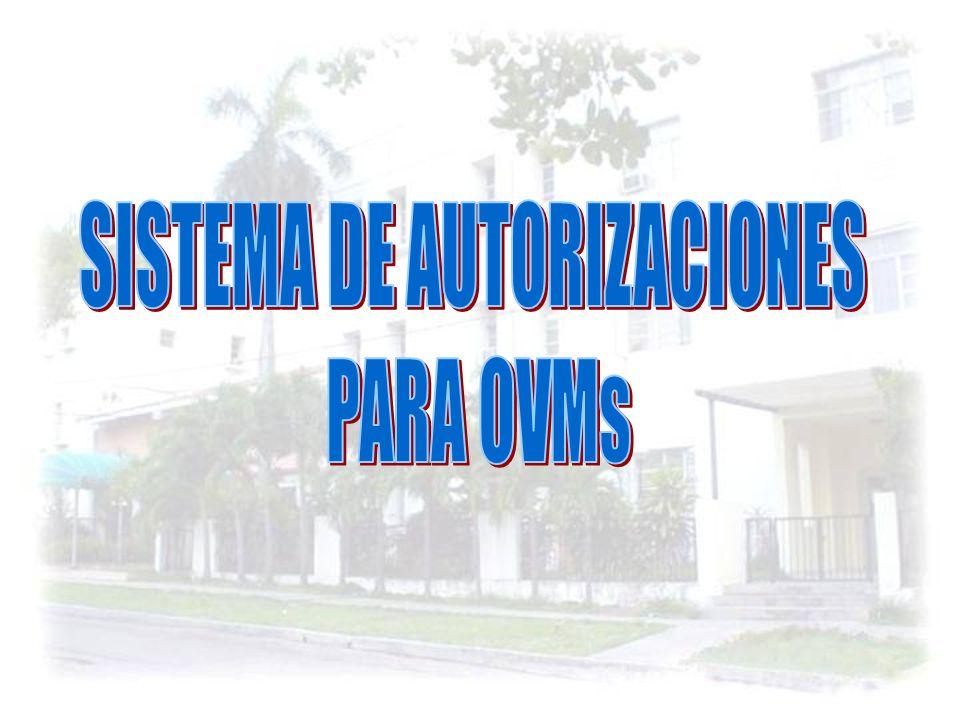 SISTEMA DE AUTORIZACIONES