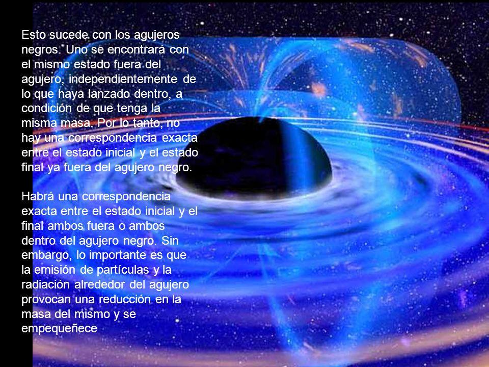 Esto sucede con los agujeros negros