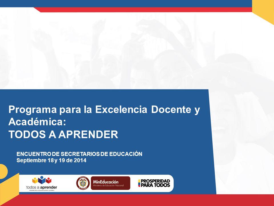 Programa para la Excelencia Docente y Académica: TODOS A APRENDER