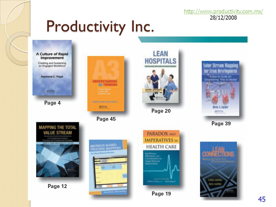 http://www.productivity.com.mx/ 28/12/2008 Productivity Inc.