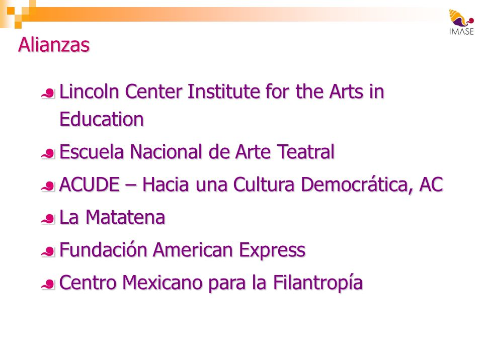 Alianzas Lincoln Center Institute for the Arts in Education