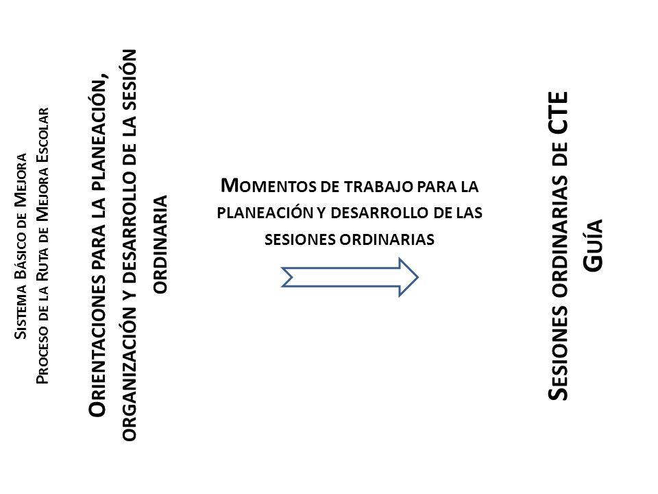 Sesiones ordinarias de CTE Guía