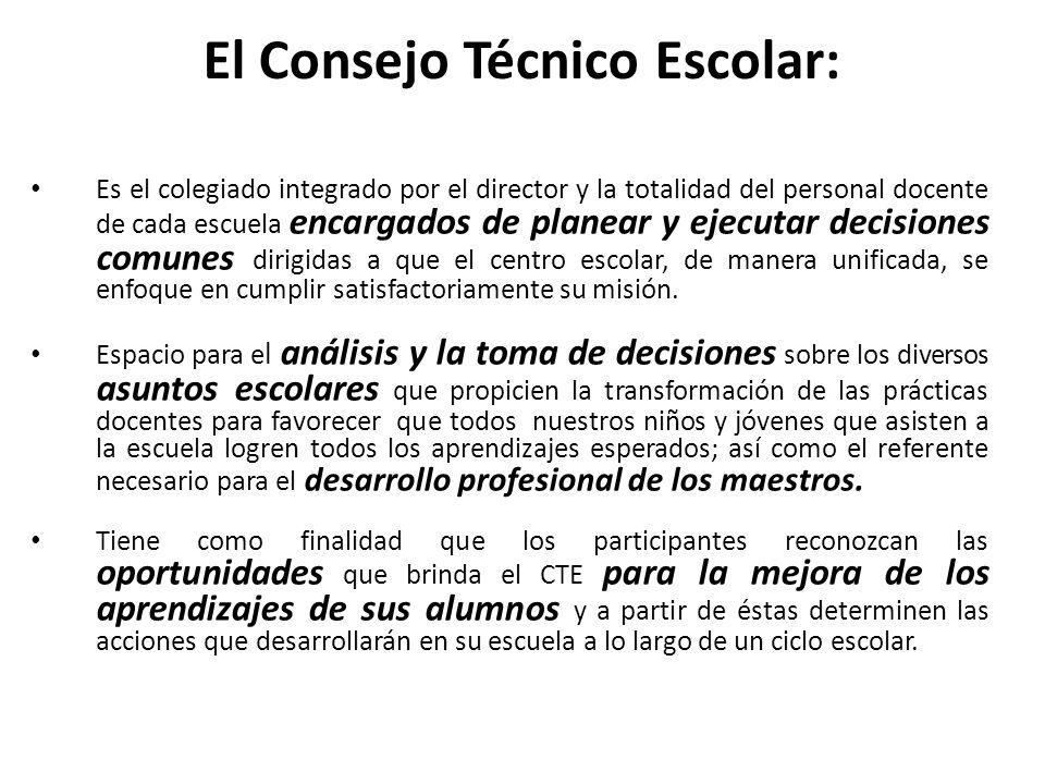 El Consejo Técnico Escolar: