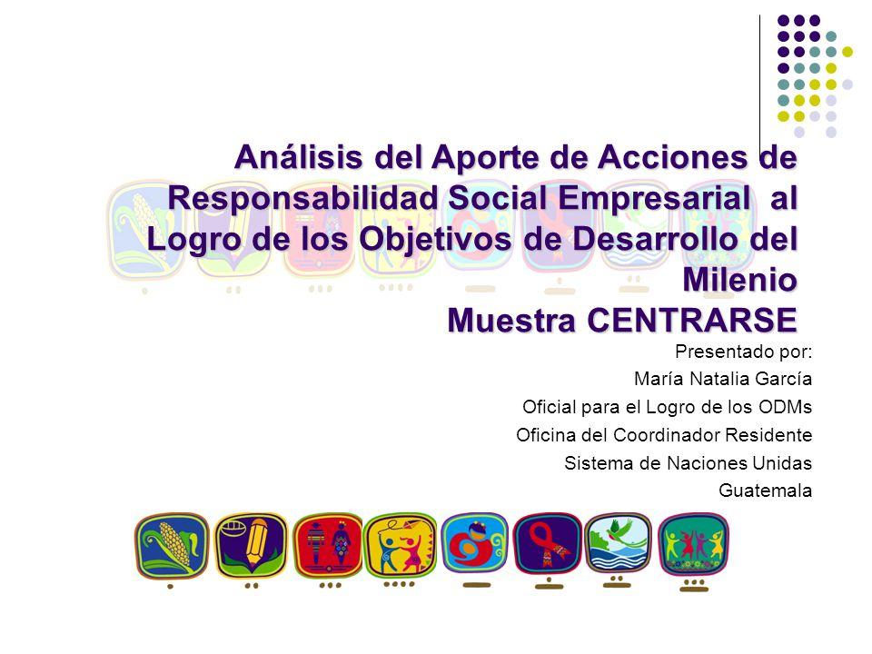 Análisis del Aporte de Acciones de Responsabilidad Social Empresarial al Logro de los Objetivos de Desarrollo del Milenio Muestra CENTRARSE