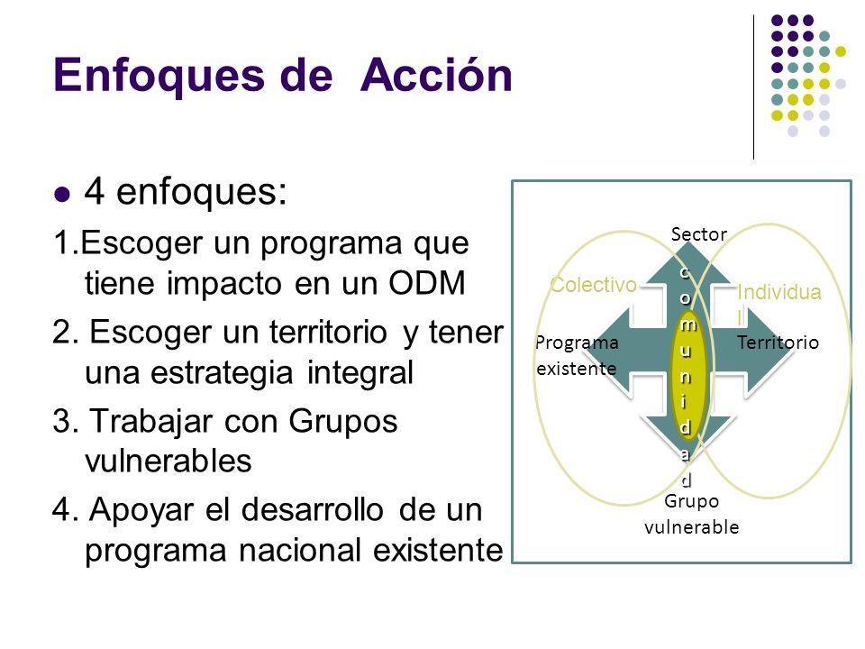 Enfoques de Acción 4 enfoques: