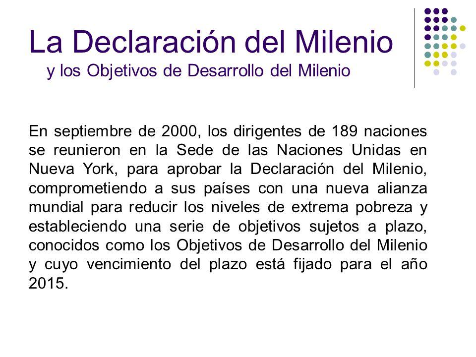 La Declaración del Milenio y los Objetivos de Desarrollo del Milenio