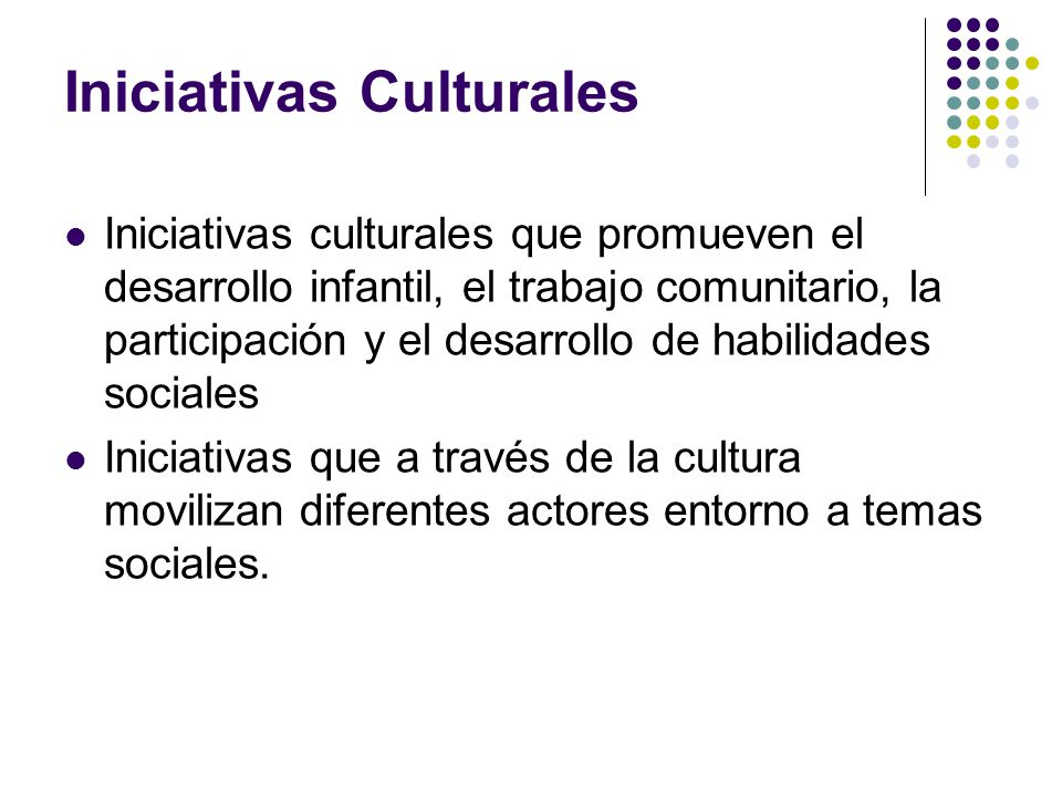 Iniciativas Culturales