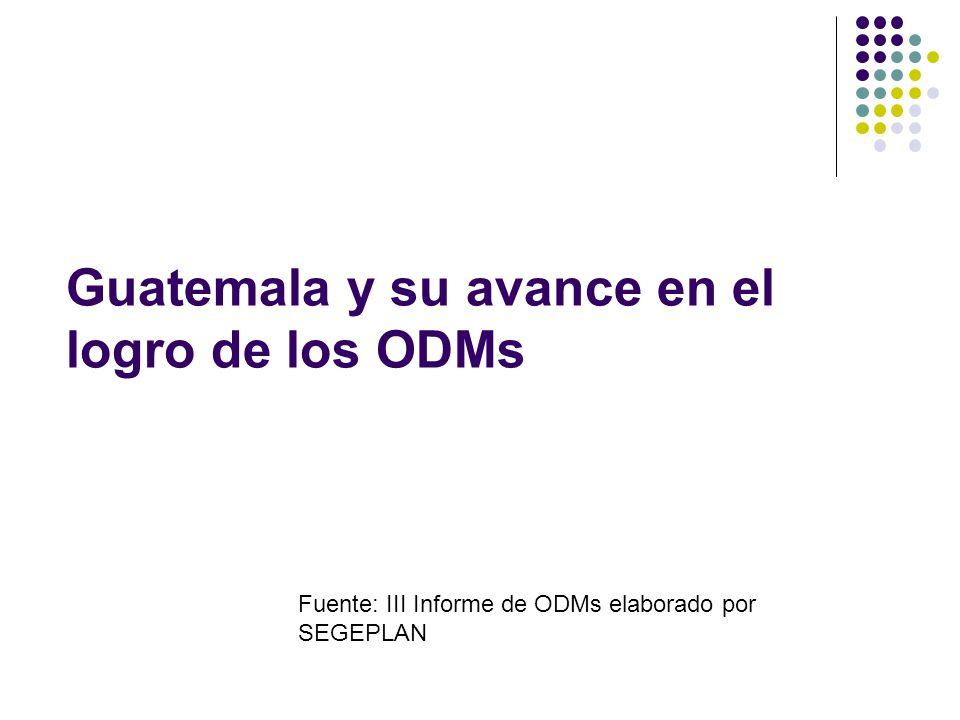 Guatemala y su avance en el logro de los ODMs