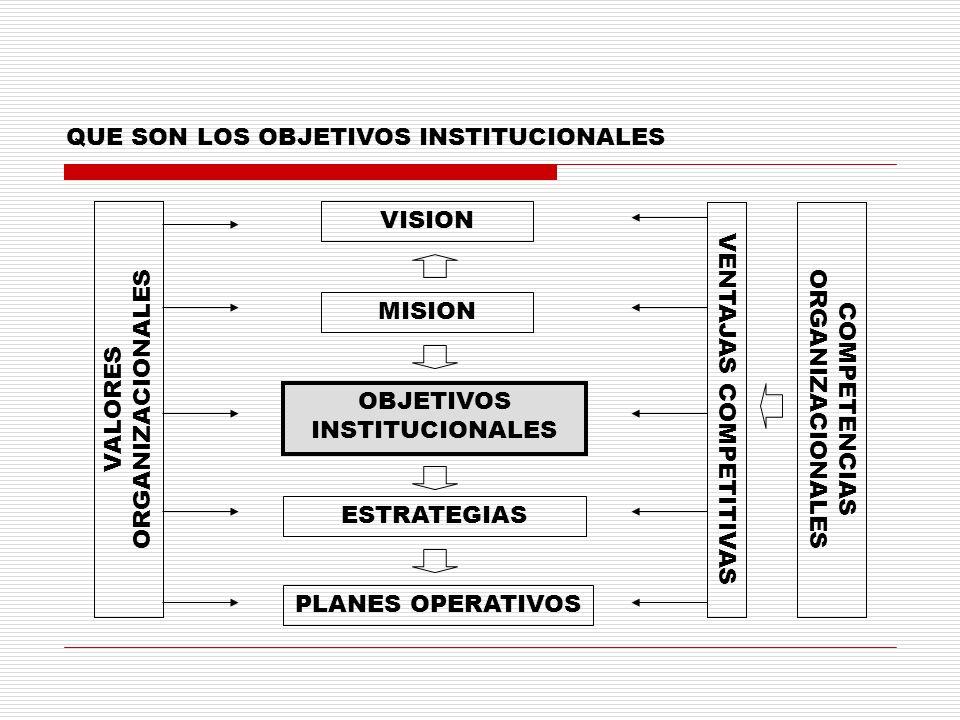 QUE SON LOS OBJETIVOS INSTITUCIONALES