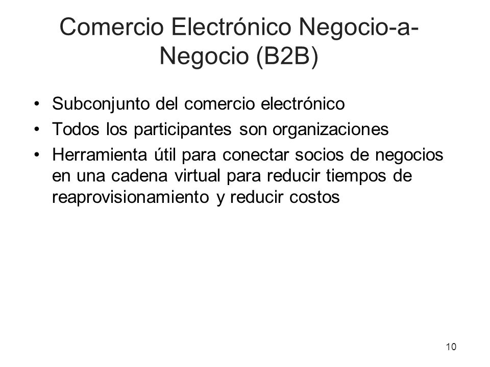 Comercio Electrónico Negocio-a-Negocio (B2B)