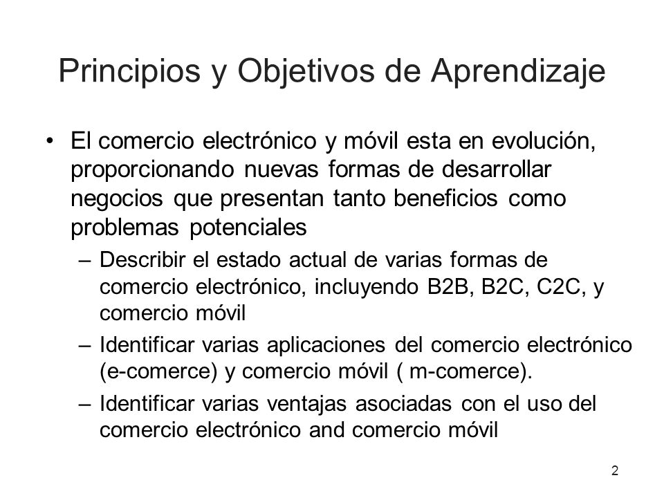 Principios y Objetivos de Aprendizaje