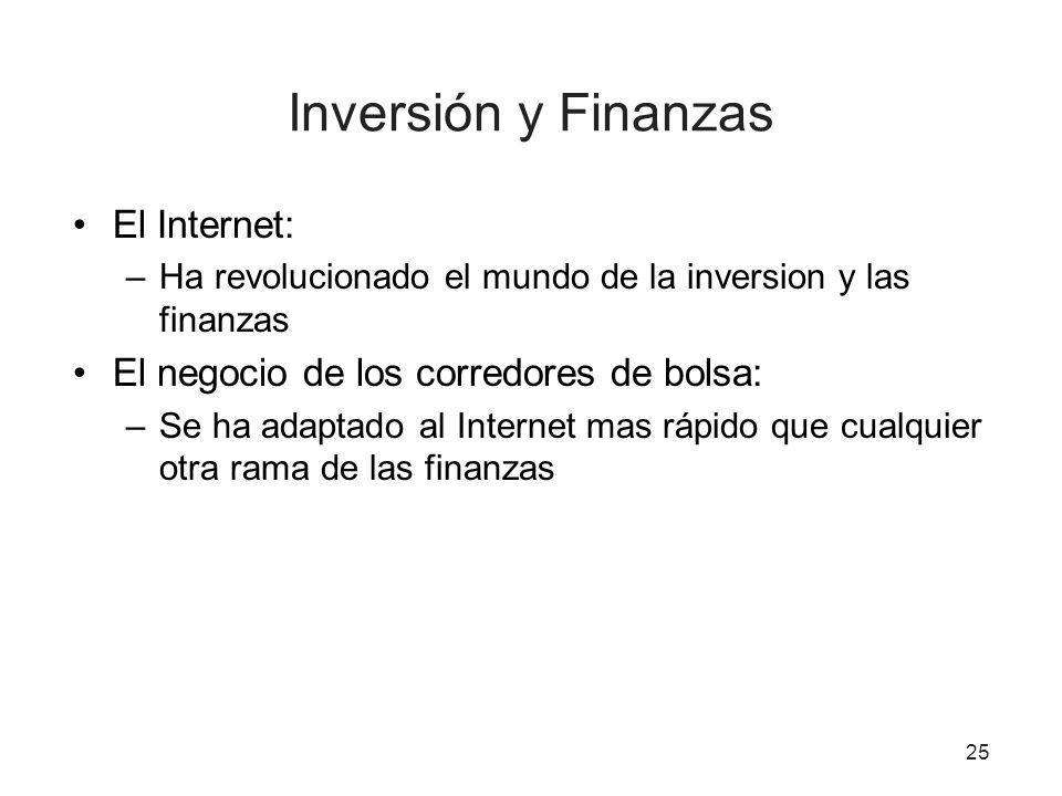 Inversión y Finanzas El Internet: