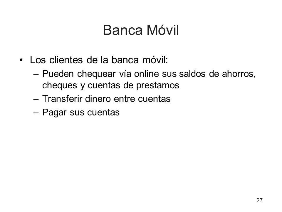 Banca Móvil Los clientes de la banca móvil: