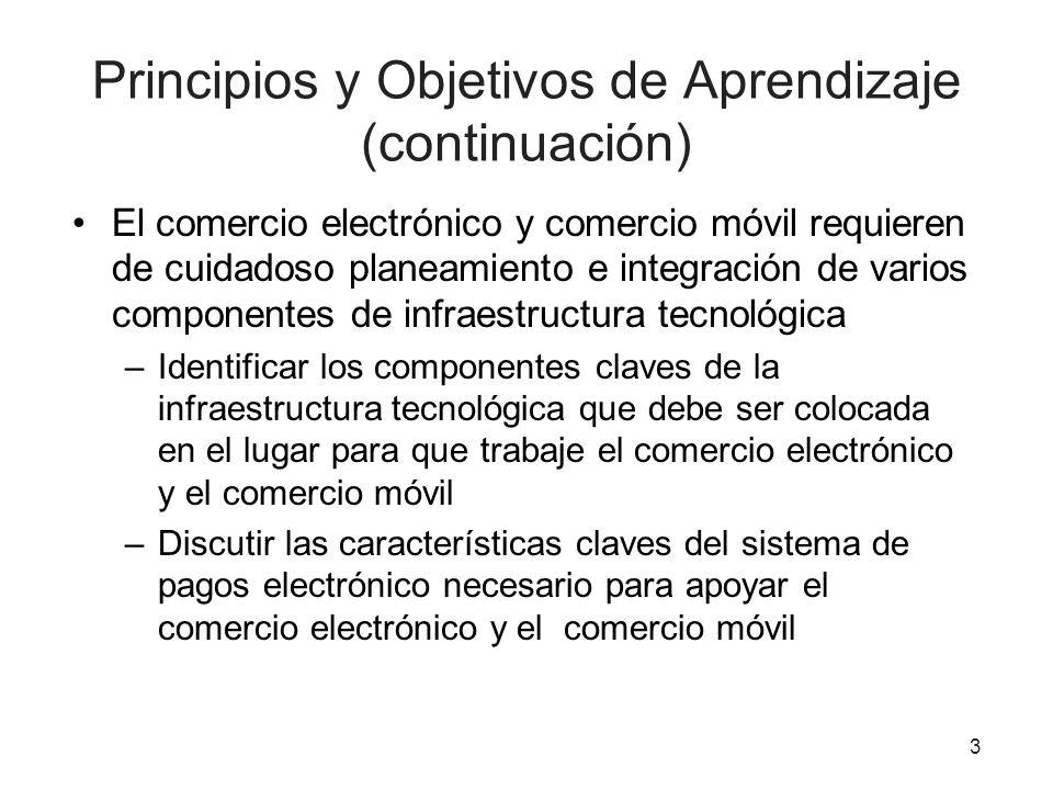 Principios y Objetivos de Aprendizaje (continuación)