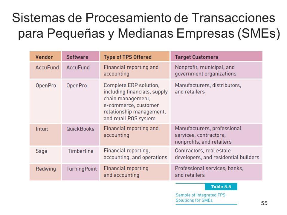 Sistemas de Procesamiento de Transacciones para Pequeñas y Medianas Empresas (SMEs)