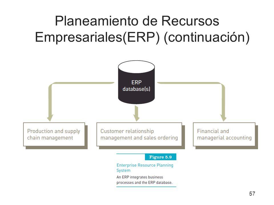 Planeamiento de Recursos Empresariales(ERP) (continuación)