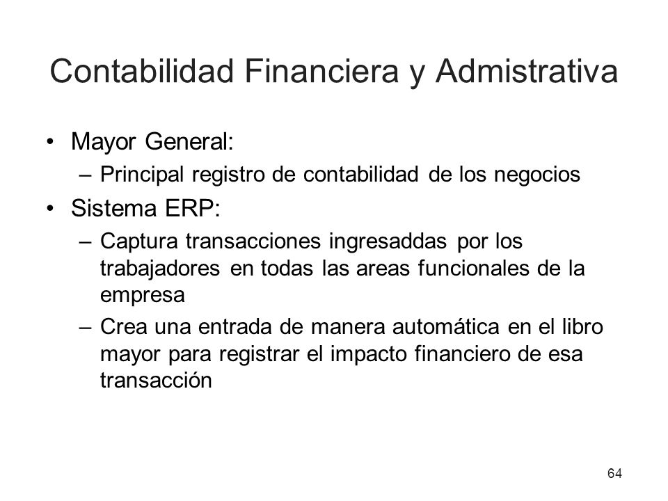 Contabilidad Financiera y Admistrativa