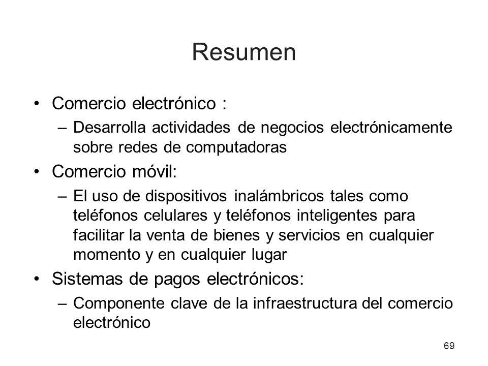 Resumen Comercio electrónico : Comercio móvil: