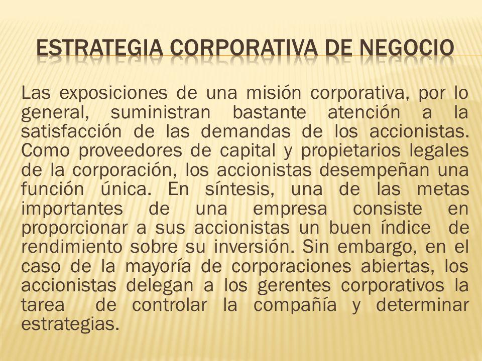ESTRATEGIA CORPORATIVA DE NEGOCIO