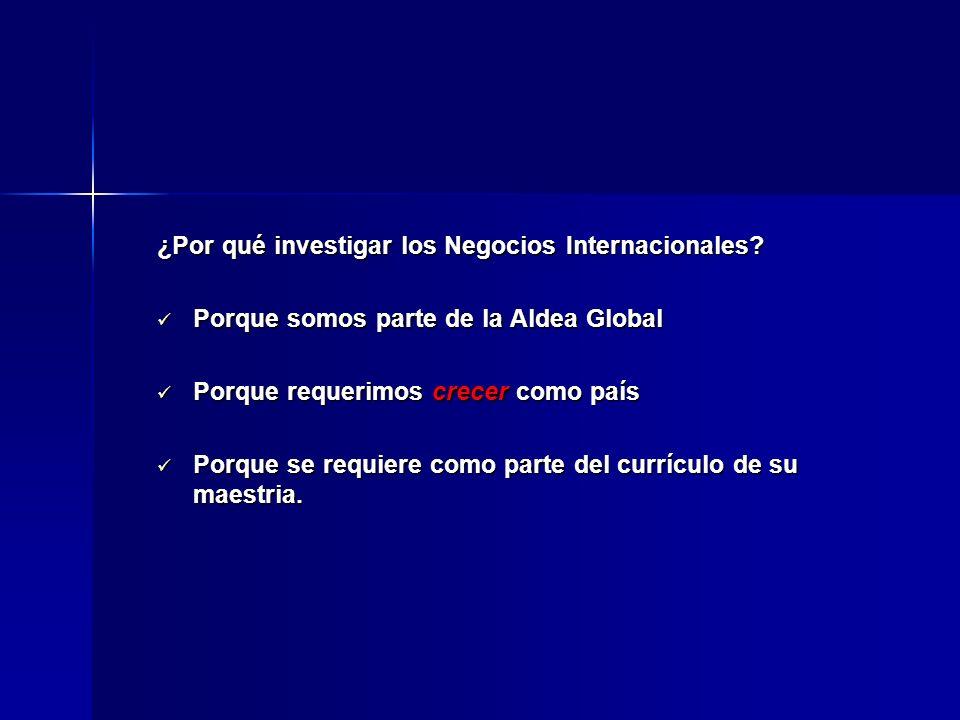 ¿Por qué investigar los Negocios Internacionales
