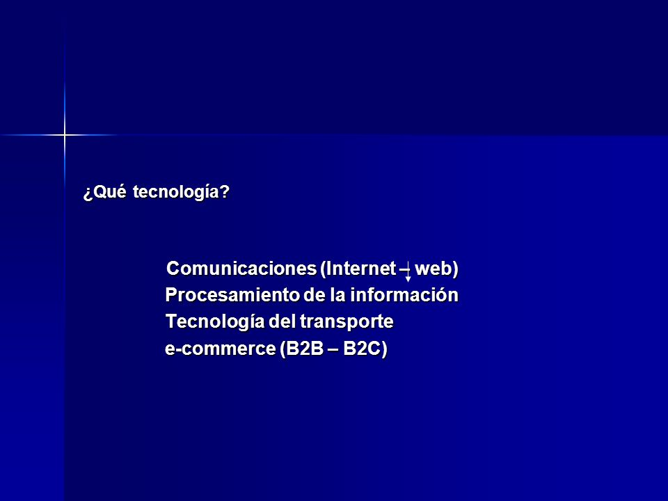 Procesamiento de la información Tecnología del transporte