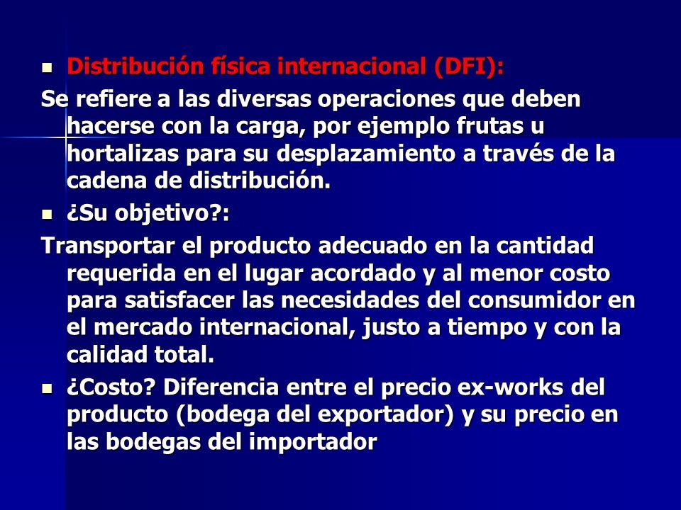 Distribución física internacional (DFI):