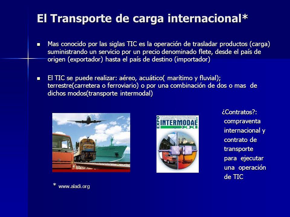 El Transporte de carga internacional*