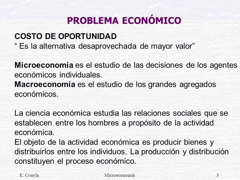 PROBLEMA ECONÓMICO COSTO DE OPORTUNIDAD
