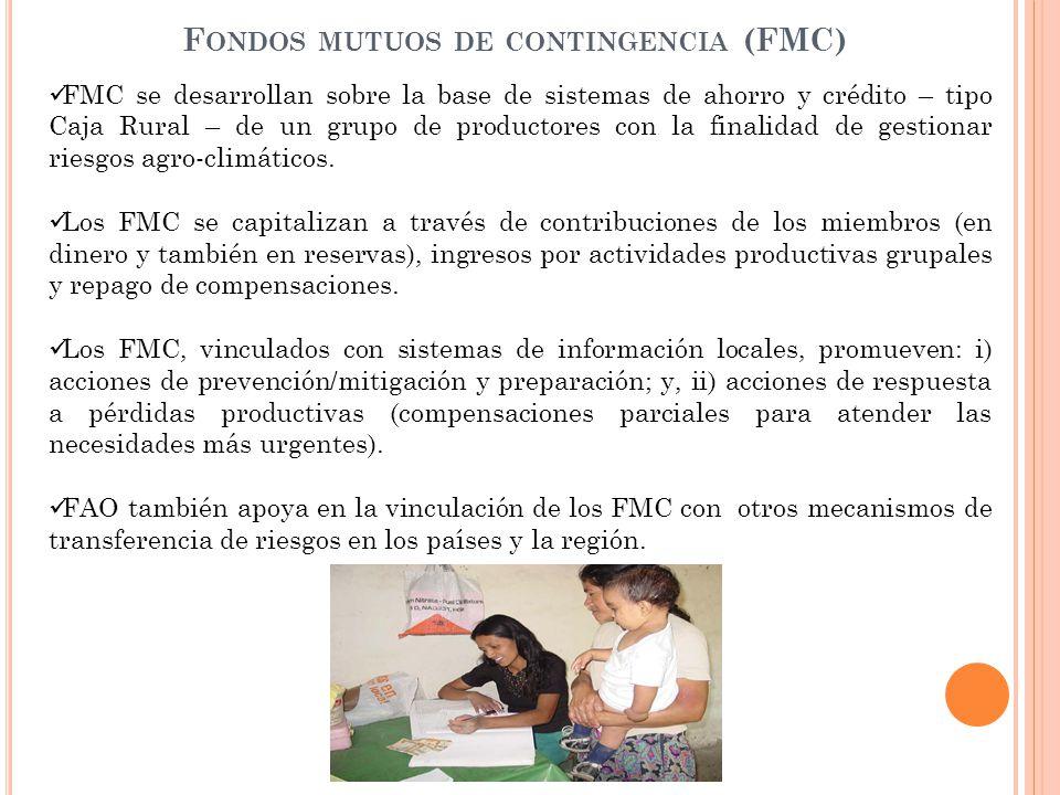 Fondos mutuos de contingencia (FMC)