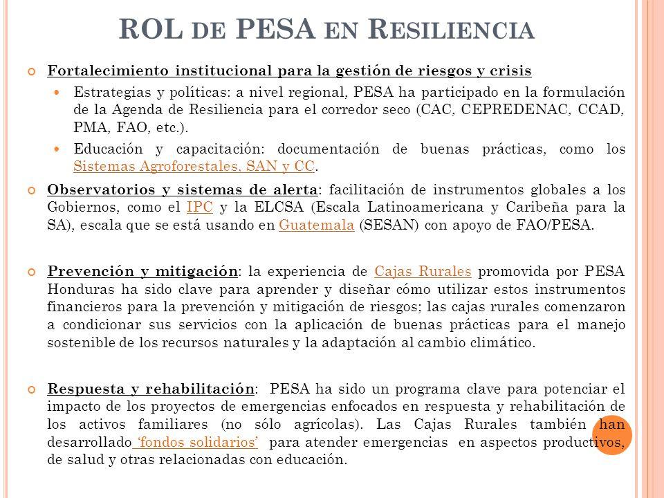 ROL de PESA en Resiliencia