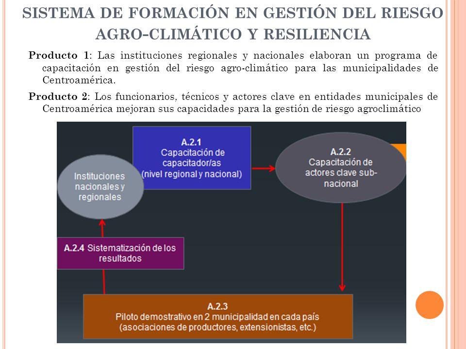 sistema de formación en gestión del riesgo agro-climático y resiliencia