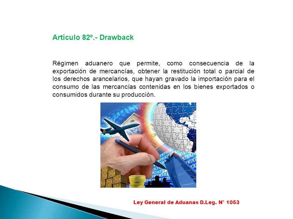 Artículo 82º.- Drawback